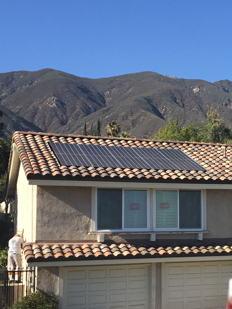 T & G Roofing installed recessed solar panels for a nice clean look
